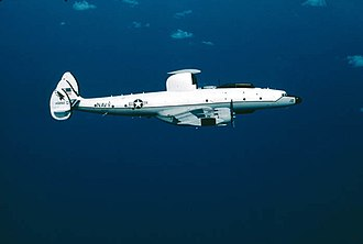 """Lockheed EC-121 Warning Star - Last """"Connie"""" to serve the Navy, on its last flight to Davis-Monthan AFB for retirement in April 1982. VAQ-33 (GD 12) NC-121K (BuNo 141292)"""