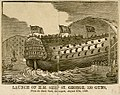 Launch of HM Ship St George 120 guns from the Dock-Yard Devonport August 27th 1840 RMG PU6176.jpg