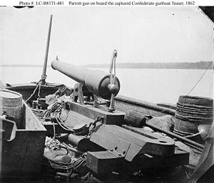 William A. Webb - Parrott gun on the Teaser