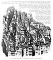 Le Lyon de nos pères, Vingtrinier et Drevet, 1901, page 276, dessin de Joannès Drevet, les églises Saint-Paul et Saint-Laurent au XVIIIe siècle.jpg