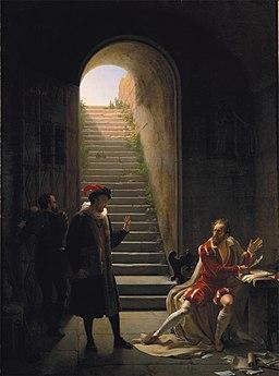 Le Tasse en prison visité par Montaigne - Fleury Richard