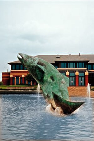 Laurence Broderick - Leaping salmon, Chester Business Park