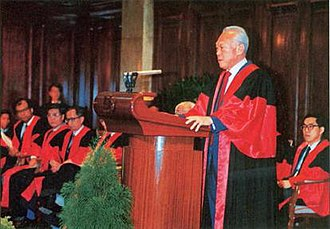 Singapore Academy of Law - Former Prime Minister Lee Kuan Yew officiates the opening of the Singapore Academy of Law