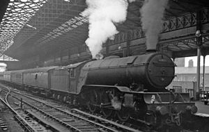 Leeds Central railway station - Leeds Central Station in 1961.