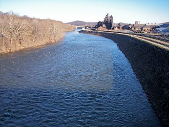 Bethlehem, Pennsylvania - The Lehigh River in Bethlehem in 2007.