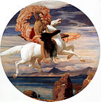 Leighton, Frederic - Perseus On Pegasus Hastening To the Rescue of Andromeda - 1895-96.jpg
