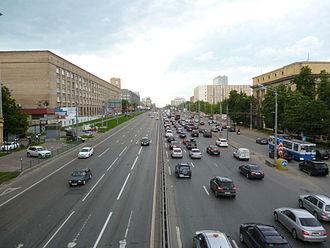 Sokol District - Leningradskoye Highway in Sokol District