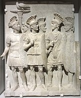 The Praetorians Relief, made from grey veined marble, c. 51–52 AD