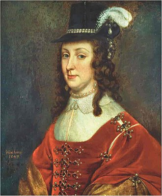 Leonora Christina Ulfeldt - Leonora Christina Ulfeldt · Painting by Gerrit van Honthorst · 1647 · Frederiksborg Museum