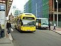 Liberec, Fügnerova, autobusy TEDOM a SOR.jpg