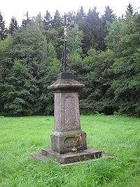 Liberec, Harcov, křížek.JPG
