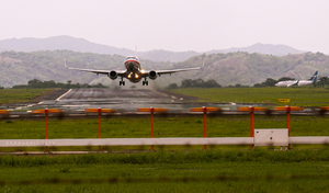 Liberia, Costa Rica - Image: Liberia, Costa Rica Airplane taking off from international airport