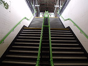 Lichfield City Station - steps (6668733119).jpg