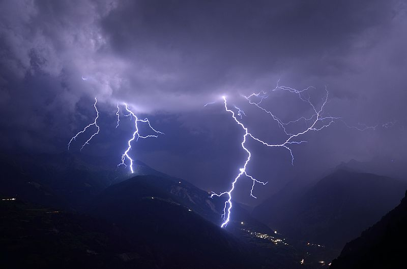 File:Lightning in the Swiss mountains (7765502724).jpg