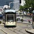 Linz, Pöstlingbergbahn wendet am Hauptplatz, 2.jpeg