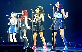 v.l.n.r. Edwards, Nelson, Pinnock en Thirlwall