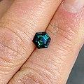 Lizunova-hexagon-teal-parti-sapphire-103ct-Lizunova Fine Jewels- Sydney.jpg