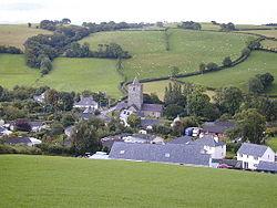 Llanfihangel y Creuddyn viewed from the north.jpg
