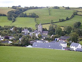 Llanfihangel y Creuddyn viewed from the north.jpg