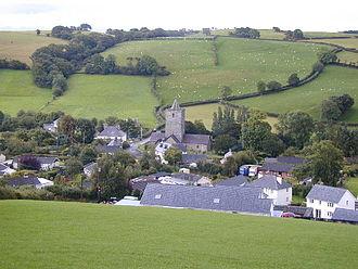Creuddyn, Ceredigion - Llanfihangel-y-Creuddyn viewed from the north.