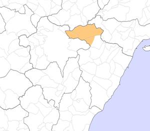 Tinença de Benifassà - Map of the Tinença de Benifassà