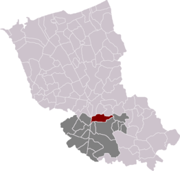 Hondeghem in the arrondissement of Dunkirk