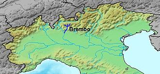 Brembo (river) - Image: Location Brembo River