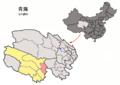 Location of Chindu within Qinghai (China).png