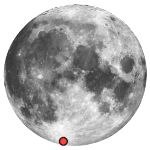 Location of lunar crater moretus