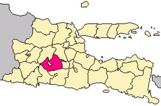 Kediri Regency - Image: Locator kabupaten kediri