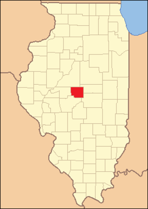 Logan County, Illinois - Image: Logan County Illinois 1839