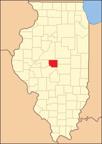 Logan County, Illinois - Image: Logan County Illinois 1839