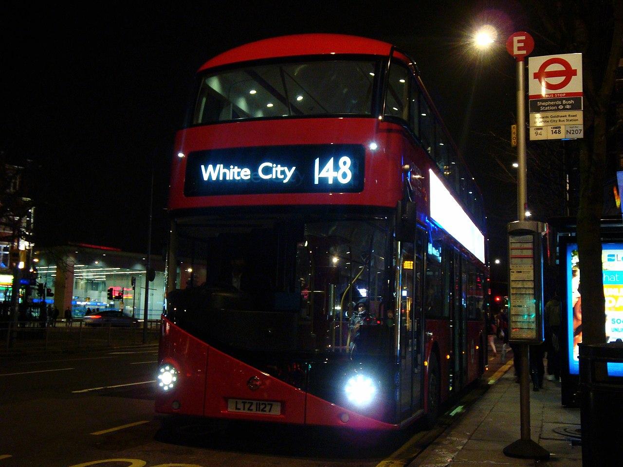 File London United Bus Lt127 Ltz 1127 Route 148 12