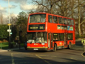 London Buses route 343 - London Central Plaxton President bodied Volvo B7TL in Peckham Rye