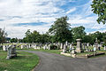 Looking NW at intersection of Cedar and Central Aves - Glenwood Cemetery - 2014-09-14.jpg