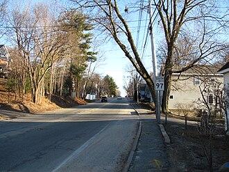 Massachusetts Route 97 - Southbound in Groveland