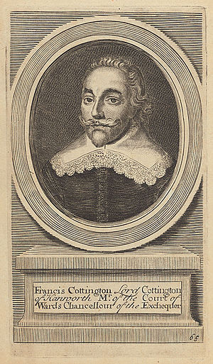 Francis Cottington, 1st Baron Cottington - Francis Cottington's title became extinct at his death because all his children predeceased him.