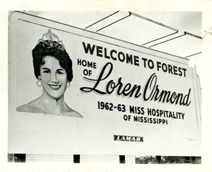 Forest, Mississippi - Welcome sign, 1963