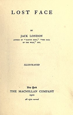 Lost Face (1910) title page.jpg