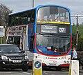 Lothian Buses bus 817 Volvo B7TL Wright Eclipse Gemini SN56 AHA Harlequin livery Penicuick CityLink route branding.jpg
