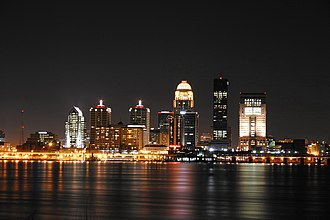 Louisville metropolitan area - Image: Louisville skyline night