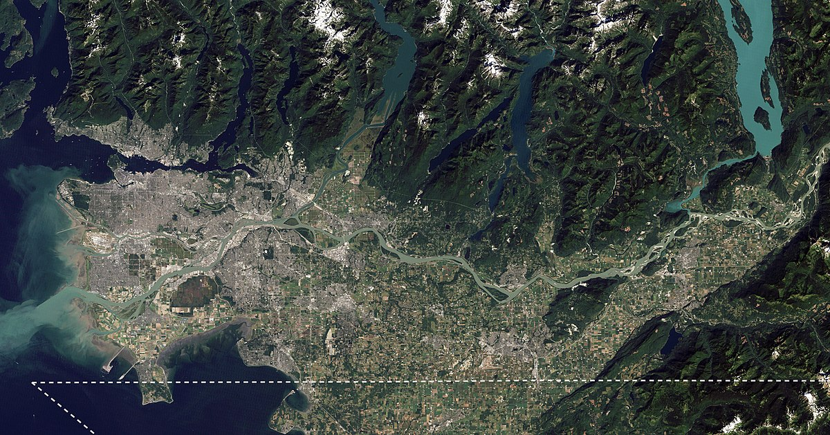 Core area of the Lower Mainland