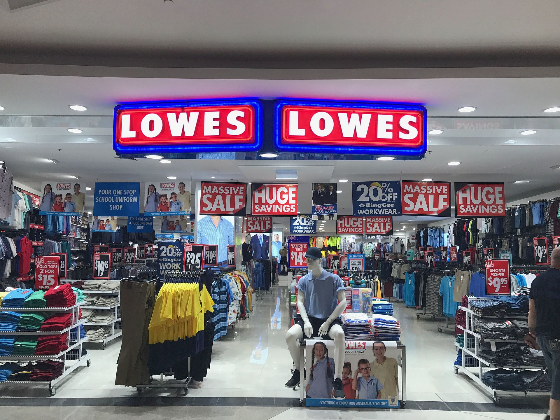 Lowes Menswear Wikipedia