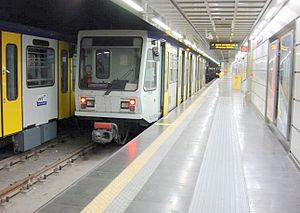 Naples Metro - Image: Lrt linea 6 metro napoli