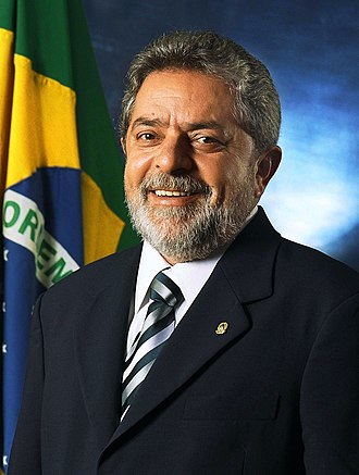 Luiz Inácio Lula da Silva - Lula's first term official portrait, 2003.