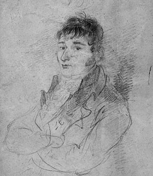 Luke Clennell - Self-portrait, pencil on paper, c. 1810