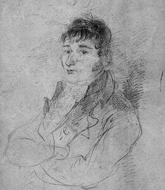 Luke Clennell - Self-portrait, pencil on paper, c. 1810