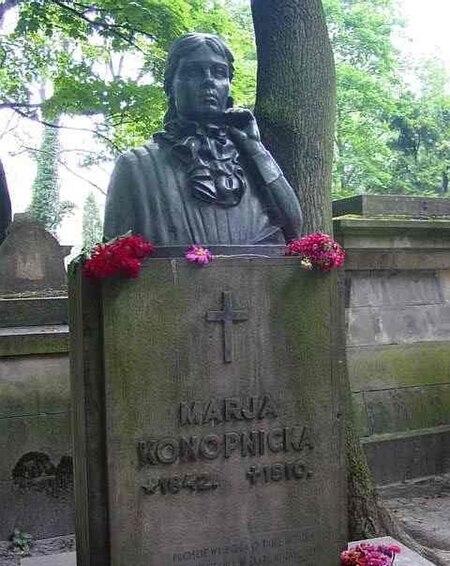 Grafika:Lwów Cmentarz Łyczakowski Konopnicka.jpg