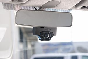 Lytx -  Lytx's DriveCam mounted on the truck's windshield