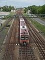 MÁV 6341 és a vasútállomás, felüljáró felől nézve, 2019 Kiskunhalas.jpg